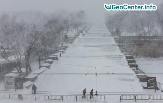 В Одессу пришёл снег
