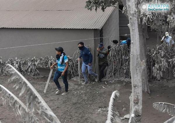 Новости про извержение Фуэго (Гватемала), июнь 2018 г.