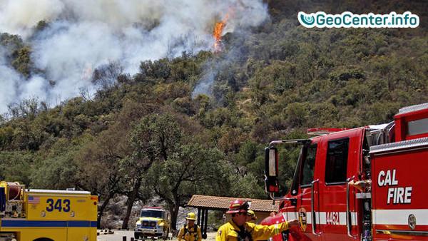 Лесной  пожар в Калифорнии, июль 2017
