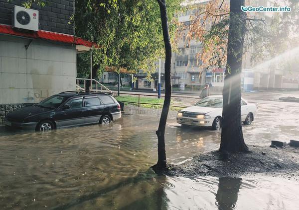 """""""Мокрый"""" день в Благовещенске, 5 сентября 2017 года"""