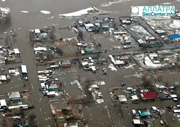 Паводковая ситуация в Алтайском крае, март 2018