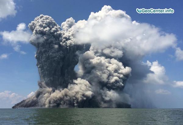 Риск извержения вулкана на острове Бам. Январь 2018