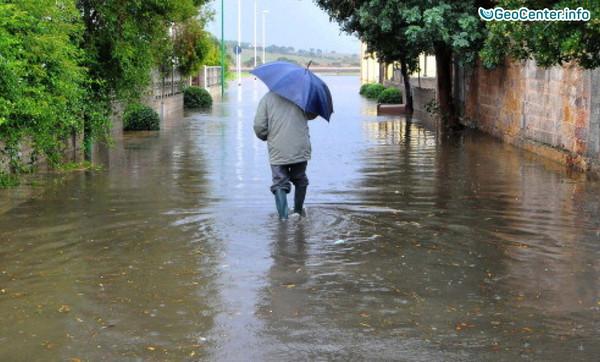 Сицилия: ливни, наводнения, оползни