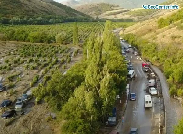 Сход селевого потока  в районе г.Судак (Крым), 18 августа 2017 года