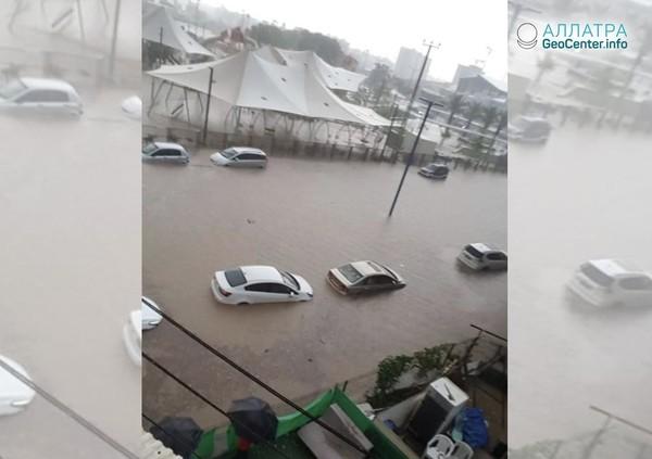 Неожиданные наводнения в Израиле, июнь 2018 года
