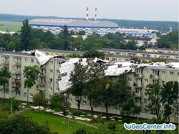 Последствия урагана в Польше, август 2017 года
