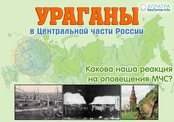 Обзор ураганов в Центральной части России. Какова наша реакция на оповещения МЧС?