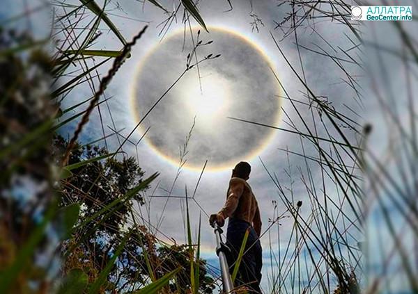 Необычное оптическое явление в небе над штатом Санта‐Катарина, Бразилия, февраль 2018