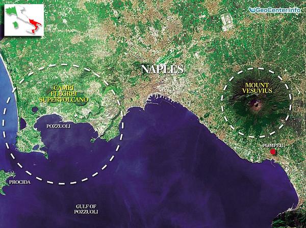 Фреатическое извержение кальдеры Кампи Флегрей (Италия)
