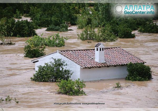 Новое наводнение на юге Испании, октябрь 2018 г.