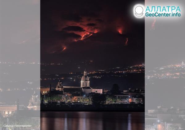 Активизировался вулкан Этна, май 2019