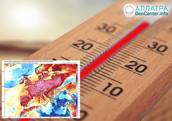 Anomálie počasia, koniec marca 2021