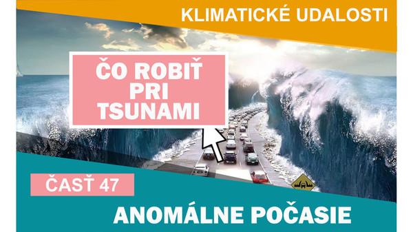 Klimatické události ve světě  21.1. - 27.1.2017. Co dělat při tsunami.