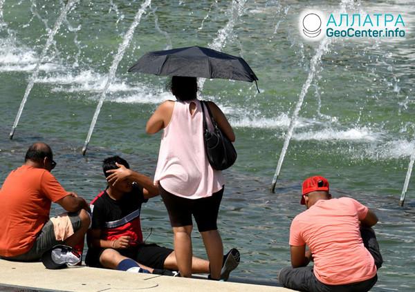 Аномальная жара в США, июль 2019