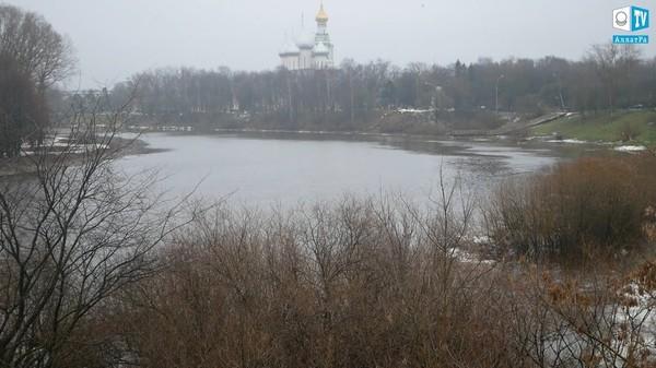 Аномальный уровень воды реки Вологда, ноябрь 2019. Климат глазами очевидцев