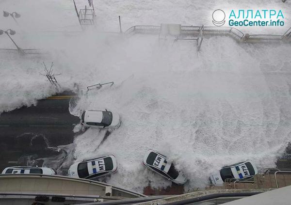 Аномальный по силе шторм на Мальте, февраль 2019