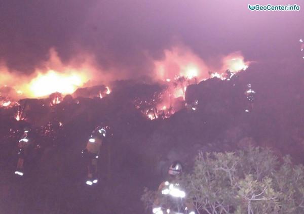 Лесные пожары на испанской Мальорке, декабрь 2017 г.