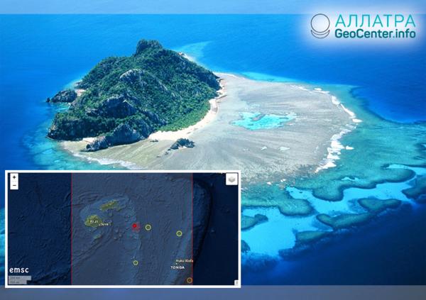 Крупное землетрясение у островов Фиджи, ноябрь 2018