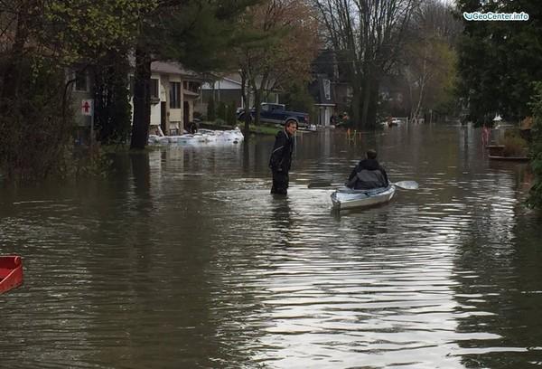 Ливни и наводнения в городах Канады, май 2017 года