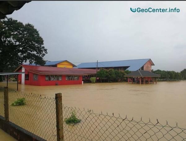 Наводнение в Малайзии в январе 2018.