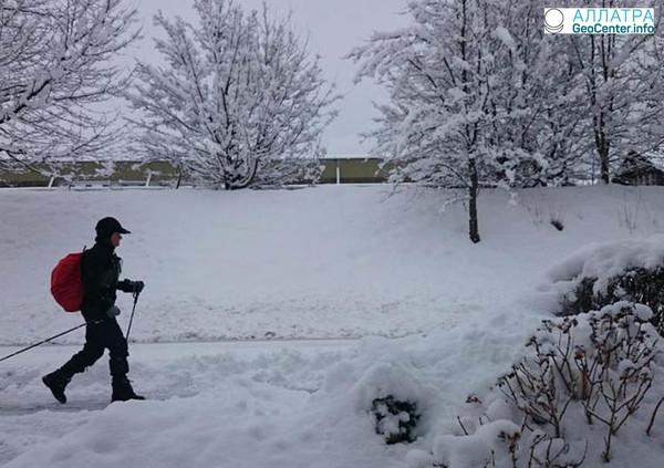 Сильные морозы в Беларуси, февраль 2018