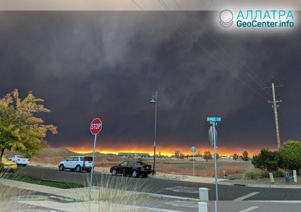 Крупные лесные пожары в Калифорнии (США), ноябрь 2018 г.