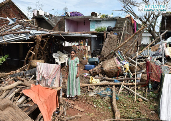"""Последствия циклона """"Титли"""", обрушившегося на Индию, октябрь 2018 г."""