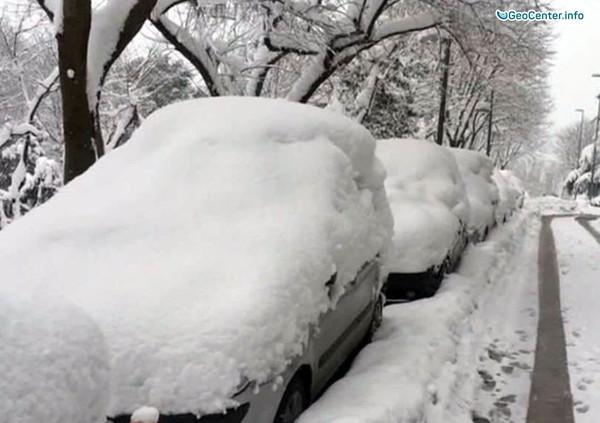 Снегопад в Чили, Южная Америка