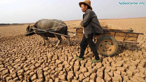 Засуха в Китае, август 2016