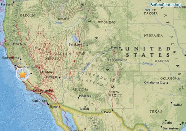 Землетрясение в Калифорнии, США, 13-14 ноября 2017 года