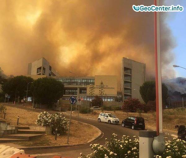 Лесные пожары в Италии, июль 2017 года