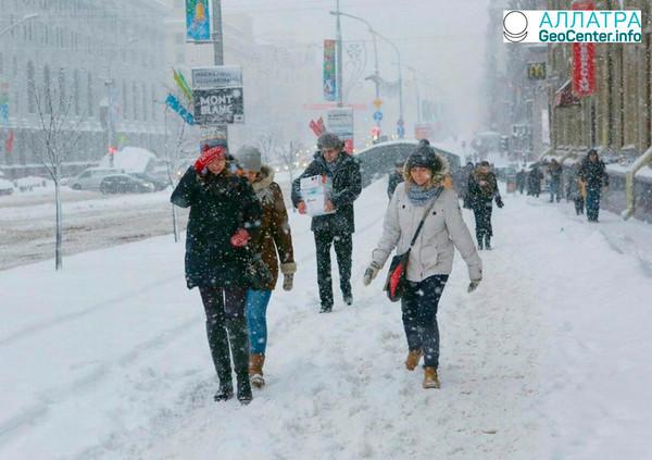 Снежный циклон в Минске, март 2018 г.