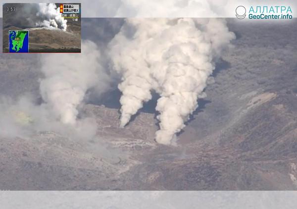 Землетрясение и вулканическая активность на горе Иояма, Япония, 19-20 апреля 2018 года