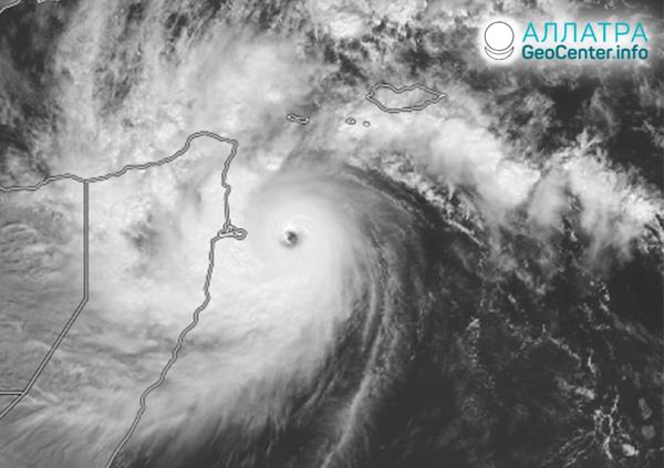 Cyklóny na planéte, november 2020