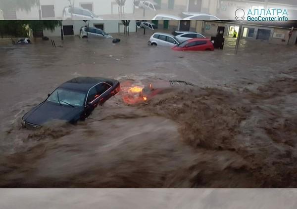 Ливневые паводки в Европе 9 октября 2018 г.