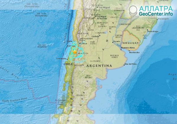 Мощное землетрясение в Чили, ноябрь 2018 г.