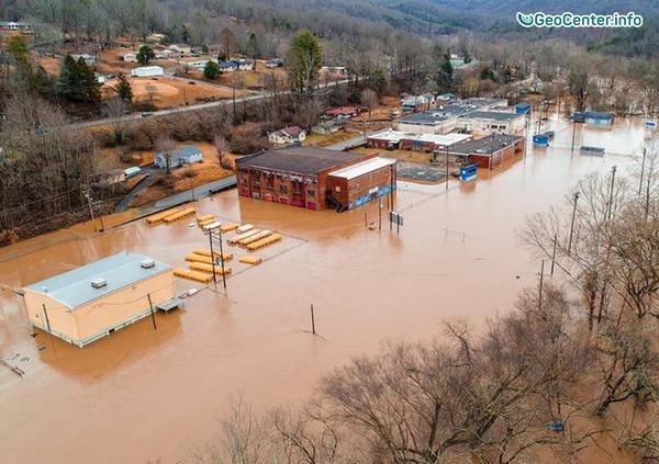 Наводнение на востоке Кентукки, США, февраль 2018 г.