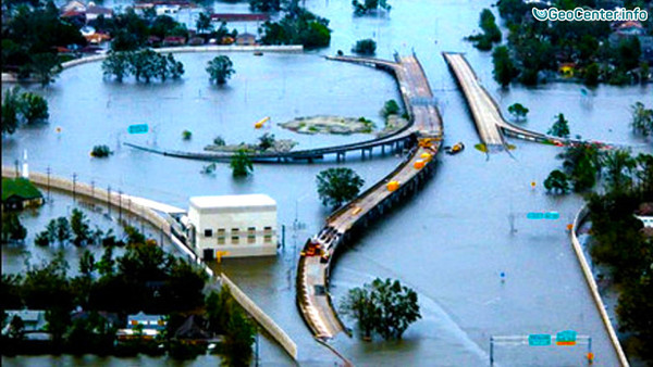 Проливные дожди вызвали наводнение в штате Луизиана (США)