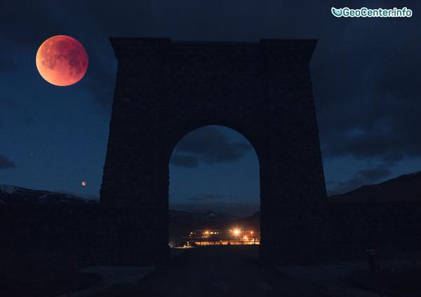 Полное лунное затмение, фото/видео, суперлуние, 31 января 2018 года