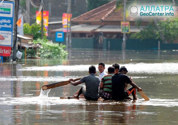 Наводнение в Шри-Ланке, май 2018