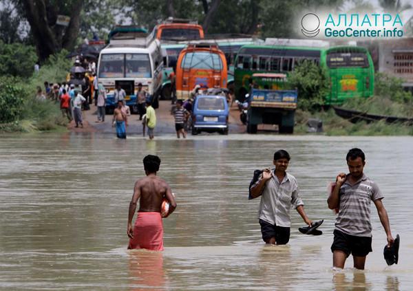 Последствия дождей в Индии, август 2018 г.