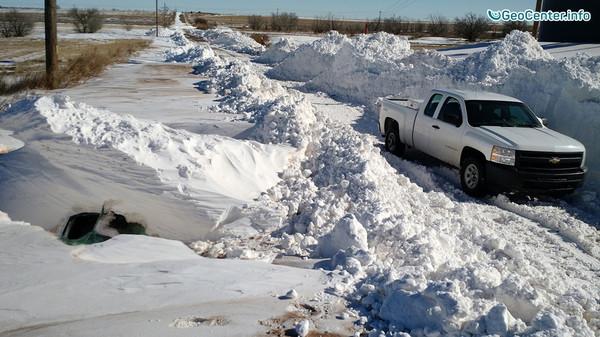 Снежный циклон в Мексике