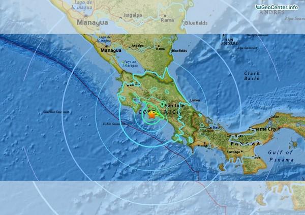 Землетрясение в Коста-Рике, 12 ноября 2017 года