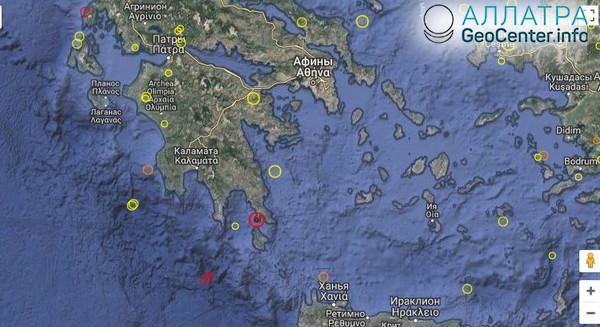 Землетрясение в Греции 16 мая 2018 г.