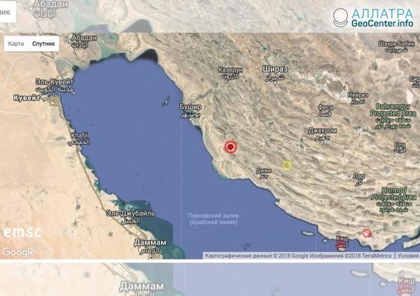 Землетрясение в Иране 19 апреля 2018 г.