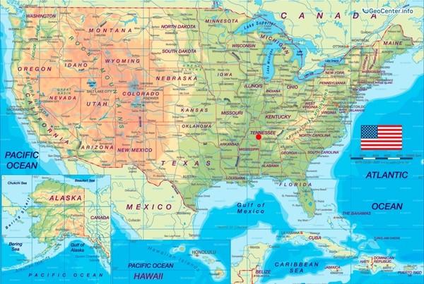 Сход оползня в Калифорнии, и шторм в Теннесси, США