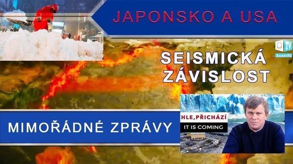 Mimořádné zprávy. Anomální sněžení a seizmická závislost v Japonsku a USA. HLE, PŘICHÁZÍ.