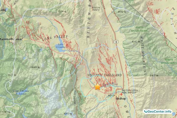 Вторая серия землетрясений в августе потрясла кальдеру Лонг-Велли