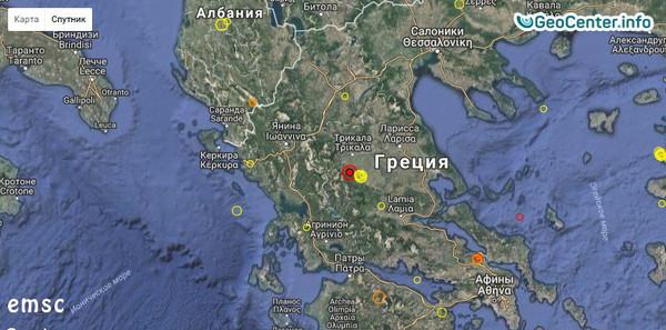 Землетрясение магнитудой 5,0 в Греции,10 сентября 2017