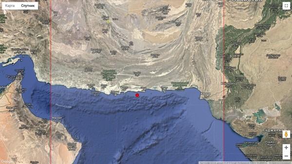 Сильное землетрясение у Пакистана, август 2018 г.